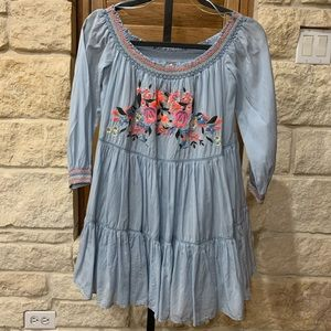 Free People Embroidered Babydoll Dress Sz. S